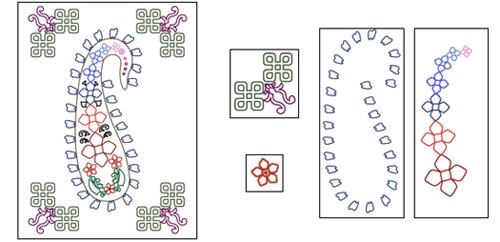 Figure 1. A decorative pattern with various symmetries and curvilinear arrangements that our system detects.